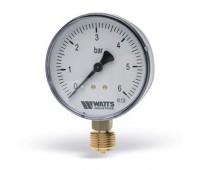 Манометр MDR радиальный Дк50 0,6МПа кл.т.1,6 G1/4 80C (10) Watts 10007378(03.12.106)