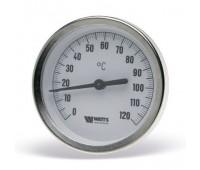"""Термометр биметаллический Т63 осевой Дк63 L=50мм кл.т.2,0 с погружной гильзой G1/2"""" 120C (5) Watts 10005800(03.01.040)"""
