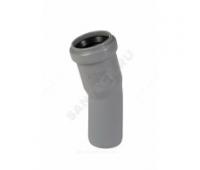 Отвод PP серый Дн110х15° б/нап в комплекте (240/20) Ostendorf  115100