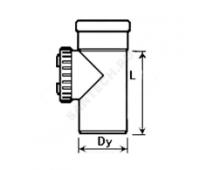 Ревизия PP серый Дн110 б/нап с крышкой в комплекте (160/20) Ostendorf  115600