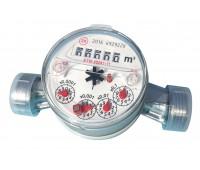 Счётчик г/в одноструйный ETW-N-15 Ду15 90C L=110мм в комплекте 1,5м3/ч Zenner