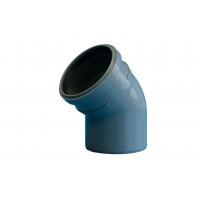 Отвод PP серый Дн110х45° б/нап в комплекте (60) Политэк  100145