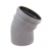 Отвод PP серый Дн50х87,5° б/нап в комплекте (100) Политэк  100587
