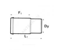 Патрубок PP серый компенсационн Дн40 б/нап в комплекте (960/20) Ostendorf  111800
