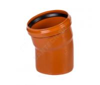 Отвод ПВХ коричневый Дн110х45° б/нап в комплекте (240/20) Ostendorf 220220