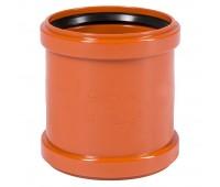 Муфта ПВХ коричневый 2-х растр Дн110 б/нап в комплекте (240/20) Ostendorf 220510