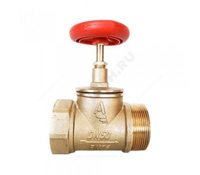 Клапан пожарн латунь КПЛП 50-1 Ду50 Ру16 ВР/НР прям Апогей