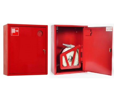 Шкаф пожарн ШПК 310 НЗК 200 мм навесной закрытый красный