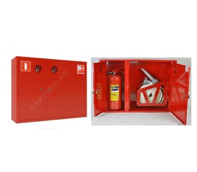 Шкаф пожарн ШПК 315 НЗК 200 мм навесной закрытый красный