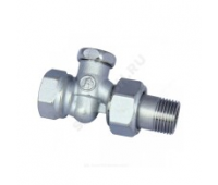 Клапан запорн R17D для радиатора Ду20 прям (50/5) Giacomini R17DX004