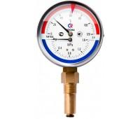 """Термоманометр ТМТБ-31Р.1 радиальный Дк80 0,6МПа L=46мм кл.т.2,5 G1/2"""" 150C (50) Росма 00000002336"""