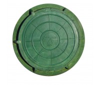 Люк полимерно-песчан легкий ЛППЛ  А30 m=32кг зеленый Сантехкомплект/Полимер