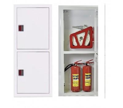 Шкаф пожарн ШПК 320 НЗБ навесной закрытый белый  евро ручка