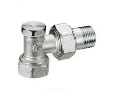 Клапан запорн R16D для радиатора Ду20 угл (50/5) Giacomini R16DX004