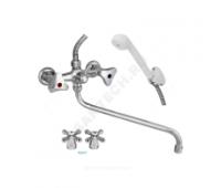 Смеситель для ванны/умыв Стандарт 600/2-3 К пл/маховик Подольск СМ501502