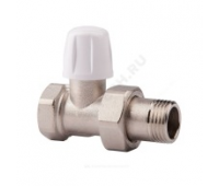 Клапан запорн  для радиатора Ду15 прям Icma 82815AD06