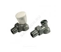 """Комплект ручной R705K для радиатора 1/2"""" угл регулирующий и запорный клапаны (25) Giacomini R705KX003"""