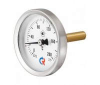 Термометр биметаллический БТ-31.211 осевой Дк63 L=64мм кл.2,5 с защит.гильзой G1/2 160C (100) Росма 00000002413