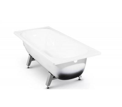 Ванна сталь 1700х700х400мм  2,7мм  строительная белый в комплекте с ножками ВИЗ S-70902