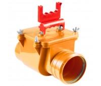 Клапан PP-H коричневый обратный для НПВХ и PP-H Дн110 б/нап в комплекте СТК
