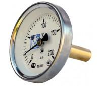 Термометр биметаллический ТБП-Т осевой Дк63 L=50мм кл.т.2,5 120C (80) ЗаводТеплИзд