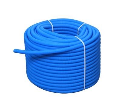 Труба ПНД гофрированная 25/20,5 бухта 100м для трубы 16 синий