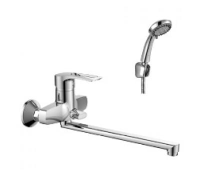 Смеситель для ванны  одноручный плоский излив хром L=350мм ROSSINKA T40-32