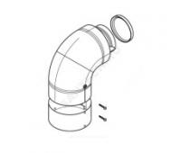 Отвод коаксиальн алюминий 90° Protherm 0020199402