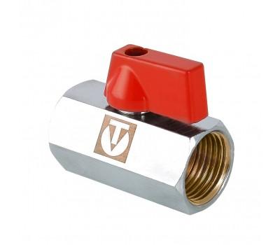 Кран шаровой латунь VT.330 красный Ду15 ВР/ВР мини (160/20) Valtec VT.330.N.04