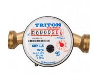 Счётчик универ Ультра КВУ Ду15 90C L=110мм в/компл с обратным клапаном 1,5м3/ч Тритон
