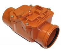 Клапан PP-B коричневый обратный Дн110 б/нап в комплекте РосТурПласт 11639