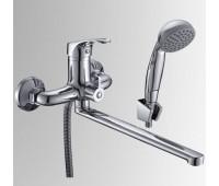 Смеситель для ванны/умыв Дача одноручный поворотный излив флажковый хром Славен СЛ-ОД-Б31