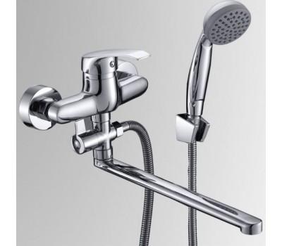 Смеситель для ванны/умыв Город одноручный поворотный излив флажковый хром Славен СЛ-ОД-К31