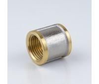 Муфта латунь никель Ду15 ВР/ВР 9018 (600/60) Aquasfera 9018-01