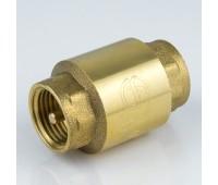 Клапан обратный латунь 3002 Ду15 Ру40 ВР пружинный с латунным штоком (180/15) Aquasfera 3002-01