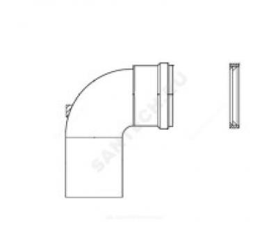 Уголок алюминий Ду80 90° для газоотвода Protherm 3003200575