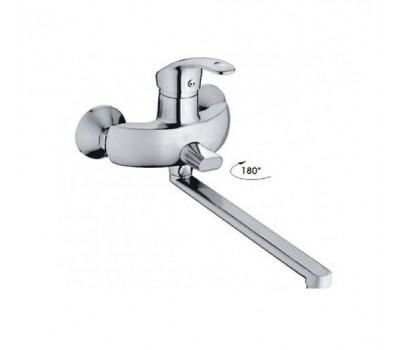 Смеситель для ванны  одноручный длинный излив хром Haiba HB2221