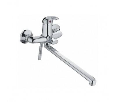 Смеситель для ванны  длинный излив с шаровым переключателем хром Haiba HB2215