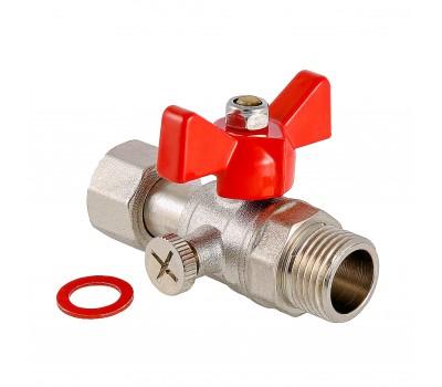 "Кран никель  для манометра ВР/НР 1/2""х1/2"" (128/8) Valtec  VT.806.N.0404"
