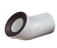Труба  фановая 110х45° прямая, манжета резина Орио С-492
