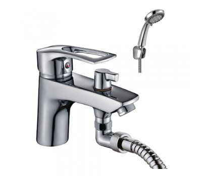 Смеситель для ванны  одноручный короткий излив на борт ванны хром ROSSINKA T40-38