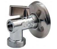 """Кран шаровой для стиральной машины латунь R614 никель Ду1/2""""х3/4"""" НР угл с отражателем (80) Giacomini R614X004"""