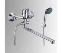 Смеситель для ванны/умыв Прораб одноручный поворотный излив флажковый хром Славен СЛ-ОД-П31