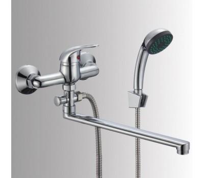 Смеситель для ванны/умыв Прораб одноручный поворотный излив флажковый хром Славен СЛ-ОД-Р31