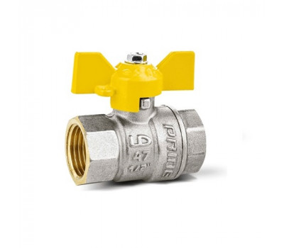 Кран шаровой латунь газ 11б27п Ду20 Ру40 ВР/ВР бабочка (80) LD Pride LD 47.350.20