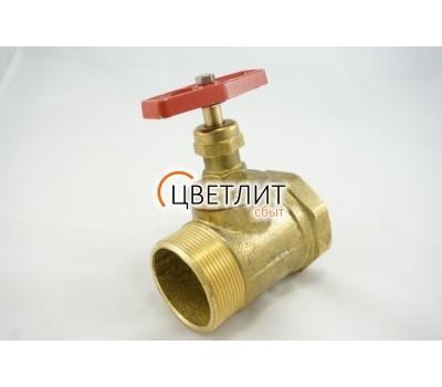 Клапан латунь 1Б1Р Ду50 Ру16 ВР/НР прям (15б1п)  ZW20022