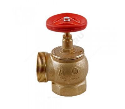 Клапан пожарн латунь КПЛМ 50-1 Ду50 Ру16 ВР/НР угл 90гр (8) Апогей