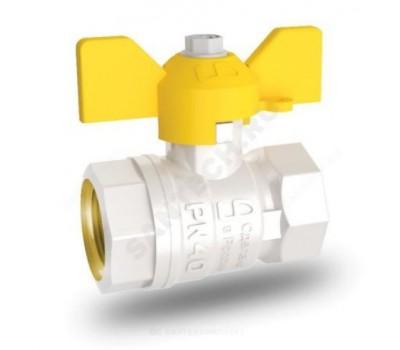 Кран шаровой латунь газ 11б27п Ду32 Ру25 ВР/ВР бабочка (30) LD Pride LD 47.350.32