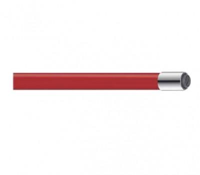 Излив для смесителя  гибкий силикон красный Frap W06
