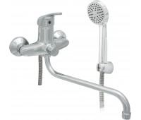 Смеситель для ванны/душа Стройка 300-4 одноручный М42 Д35 круглый излив L=320мм Подольск СТ300001